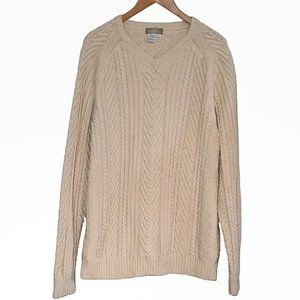 The Territory Ahead Cotton/Merino Cable Sweater